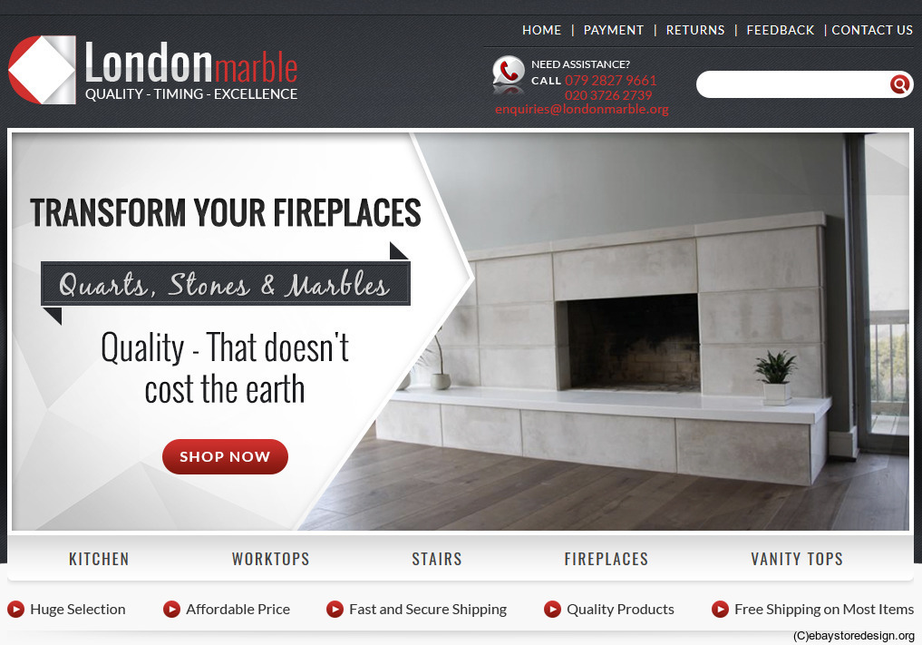 London Marble's Thoughtful eBay HTML Template Design
